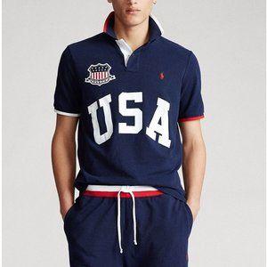 Ralph Lauren SS Classic Fit USA Mesh Polo Shirt